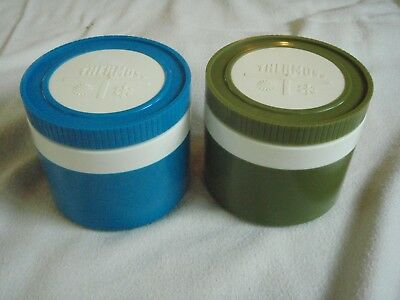 Lot of 2 Vintage Thermos Insulated Jar 1155/3 King Seeley USA Hot Cold Food