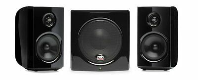 PSB Alpha 1-100 Gloss BLK 2.1 Powered Media Speaker System Studio Monitors w/sub