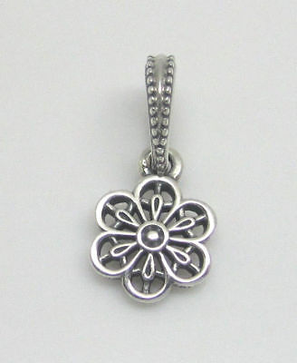965827039 AUTHENTIC Pandora Sterling Silver Hanging Floral Daisy Lace Charm 791835