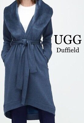 UGG Australia Womens DUFFIELD shawl Collar Wrap Robe  UA4101W  125 LARGE  DRHT 09cc2f021