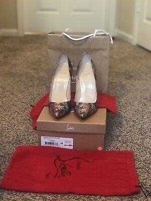 Authentic Women Louboutin so Kate 120 Glitter Plume Heels/pumps