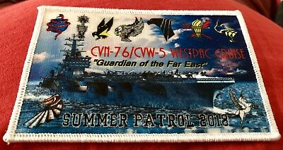 "CVN-76/CVW-5 Westpac Cruise, Summer Patrol 2018,""Guardian of the Far East"" patch"