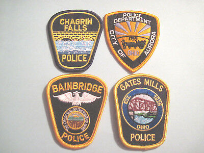 Ohio Police Depts. Hat Patch Lot (4)