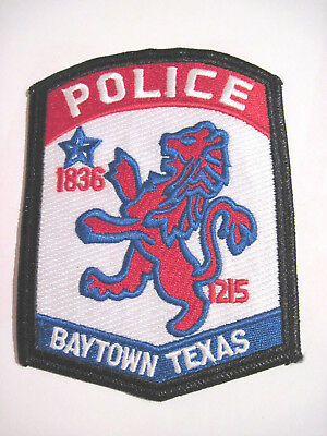 Baytown Texas Police Shoulder Patch