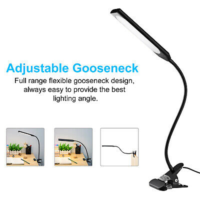 5W Clip-On Flexible Lamp Metal Dimmable USB Desk Bed Reading Book Light 48LED