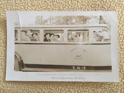 Yellowstone Park Company Bus Postcard RPPC - Smith & Chandler - ID'd - 1930's