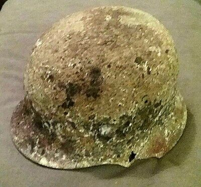 "Rare: Dug Relic  "" WWII German Helmet "" Found at Stalingrad"