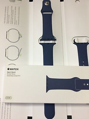 Apple Watch Sport Band 42mm Genuine Authentic NEW S/M M/L Ocean Blue