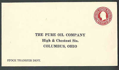 Ca 1916 The Pure Oil Co Columbus Oh Mint Entire