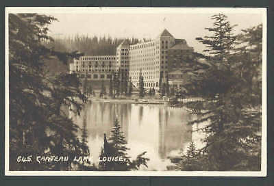 1930 RPPC* Canada Lake Louise Castle
