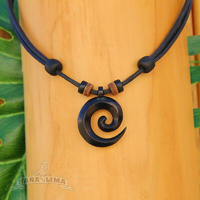 Necklace Leather Necklace Surfer Necklace Wood Native American Jewelry