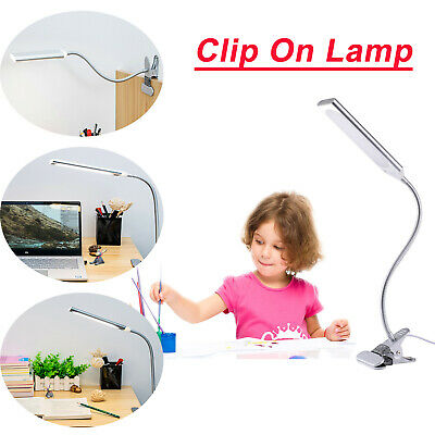 New Dimmable LED Light Flexible USB Clip-On Desk Table Reading Desk Lamp 48LED