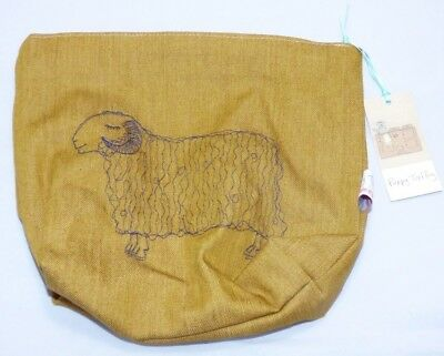 sleepy sheep - embroidered wash bag by Poppy Treffry
