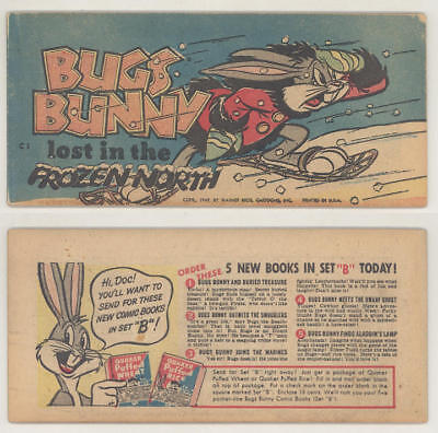 Rare 1949 Quaker Cereal giveaway comic book BUGS BUNNY LOST IN THE FROZEN NORTH