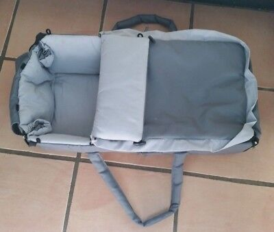 Baby carry cot - grey.  Baby bassinet. Baby travel cot.