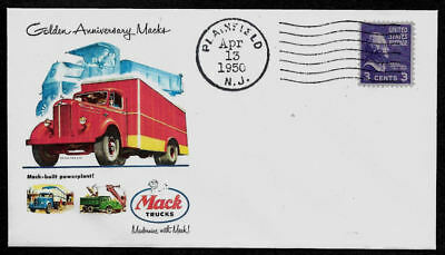 1950 Mack Trucks Advertisement Featured on Collector's Envelope *A1360