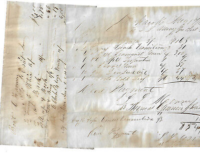Canal Boat Erie Canal Mohawk Village New York Document Lot Off Boat Farmer 1848