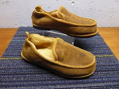 318ac9ec743 Ll Bean Men s Wicked Good Scuffs Moccasins Slippers Shearling Lined Size 9