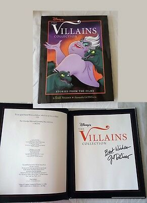 1993 Disney The Villains Collection Gil DiCicco SIGNED Book cel drawing URSULA