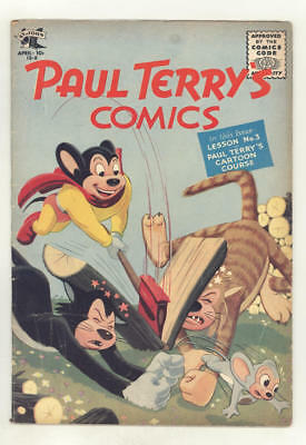 April 1955 PAUL TERRY'S COMICS #124. Mighty Mouse, Heckle & Jeckle ++ Nice!