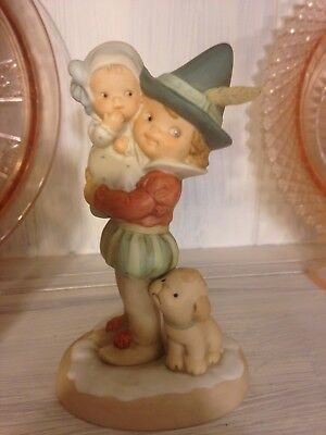 Vintage 1998 Enesco Memories of Yesterday Wishin' You A Jolly Holiday