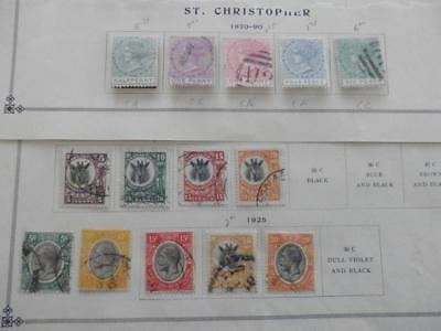 St Christopher Tanganyika  Old Collection Dr Schultz Estate Superiorstamps 7719S