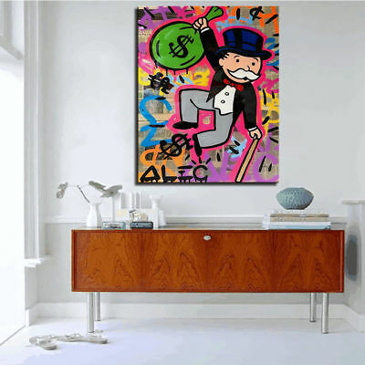Alec Monopoly Hand Painted Portrait Art Oil Painting On Canvas No Frame 36
