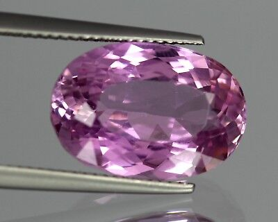 Flawless 12.95 Cts Natural Oval Cut Afghanistan Pink Patroke Kunzite No Reserve
