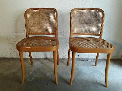 Lot de 2 chaisess N°811 Joseph Hoffmann, Prague pour Thonet 1960