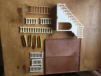 Sylvanian Families house Spares, railings, ladder, stairs, floor, window boxes