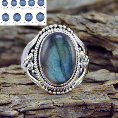 New Fashion Turquoise Silver Ring Women Vintage Wedding Engagement Size 6-10