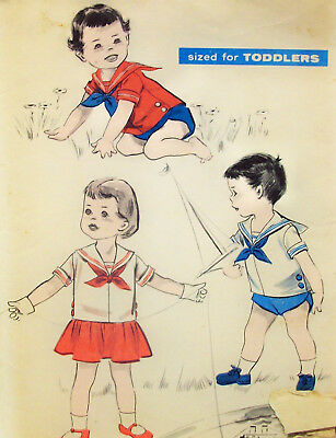 Vintage Advance sewing pattern, sailor clothes for boys & girls, size 1/2