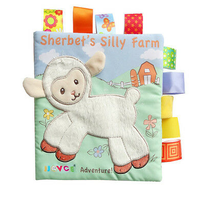 Baby Cloth Book Toy Early Learning Education Animals Book Infant Toys 6A