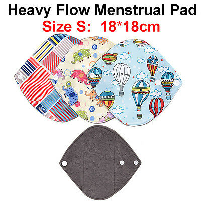 18*18 Bamboo Cloth Washable Reusable Menstrual Sanitary Maternity Mama Pads Z LC