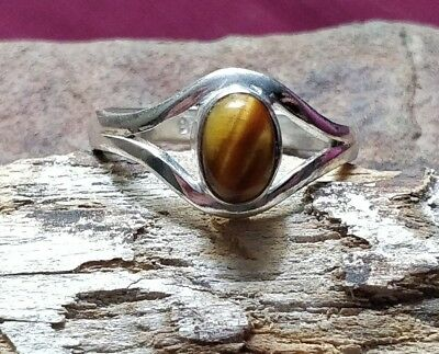Fortune Finder Tiger's Eye Ring Wealth & Riches Money Talisman Pagan Witch