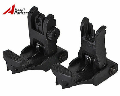 Hunting Tactical Flip-Up BackUp Front and Rear Folding Sight Set for 20mm Rail