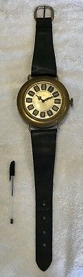 Large  vintage unusual Polaris brass watch and strap fully working, 0ver 2 foot