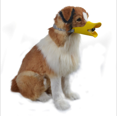 Adjustable Muzzle Dog Duckbill Silicone Pet Cute Soft Puppy Bark Anti Duck Bite