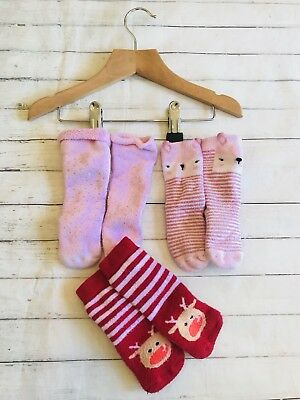 Baby Girls Clothes Socks 12-18 Months- Cute Sock Bundle