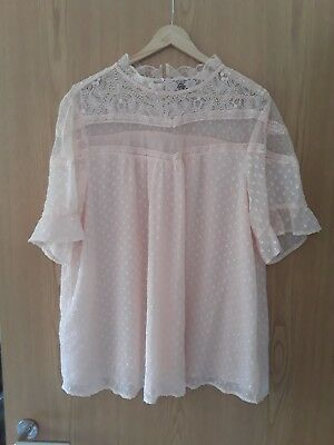 New look maternity pink blouse size 18