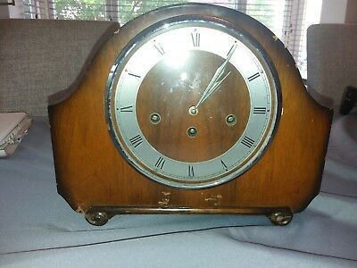 1940s ALEXANDER CLARK CO SMITHS WESTMINSTER CHIME MANTEL CLOCK key spare repairs