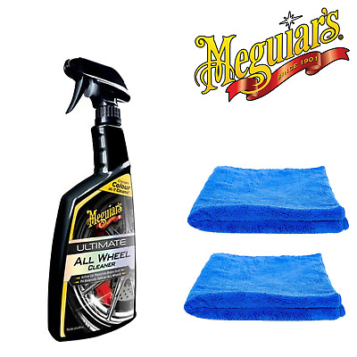 Meguiar's Ultimate ALL Wheel Cleaner 710ml & 2 Microfibre Towels