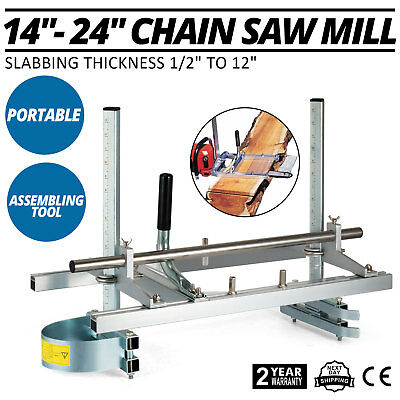 """14"""" - 24"""" Chain Saw Mill Planking Lumber Cutting Aluminum Builders Mill GREAT"""