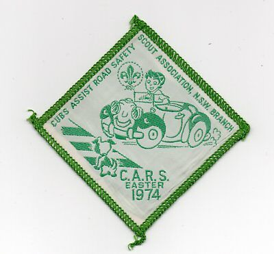 Scout Badge: 'Cubs assist Road Safety' Scout Assoc. NSW Branch