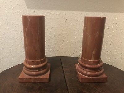 Pair Of Stunning Grand Tour Style Marble Columns