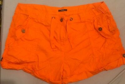 George Ladies Shorts Bright Orange Size 24