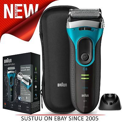 Braun Series 3 ProSkin 3080s Wet and Dry Electric Shaver│Men│Rechargeable│Blue