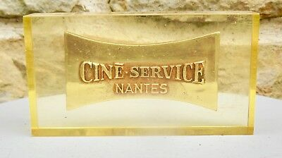 CINé - SERVICE - PLATE BRONZE ,incorporation in bloc resin