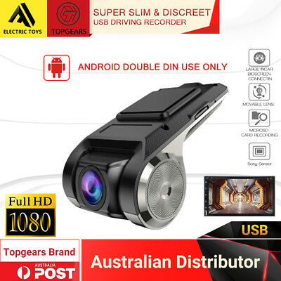 Topgears super slim USB dash camera for android double din 2 din systems 1080P