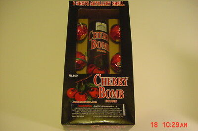 Cherry Bomb Shells Salute Firecracker Firework Box Label BRAND NEW